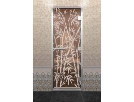 Дверь DoorWood с рисунком бамбук и бабочки