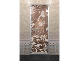 Дверь DoorWood с рисунком Девушка в цветах