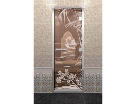 Дверь DoorWood с рисунком Голубая лагуна