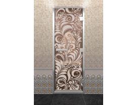 Дверь DoorWood с рисунком  Хохлома