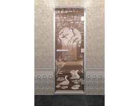 Дверь DoorWood с рисунком Лебединое озеро