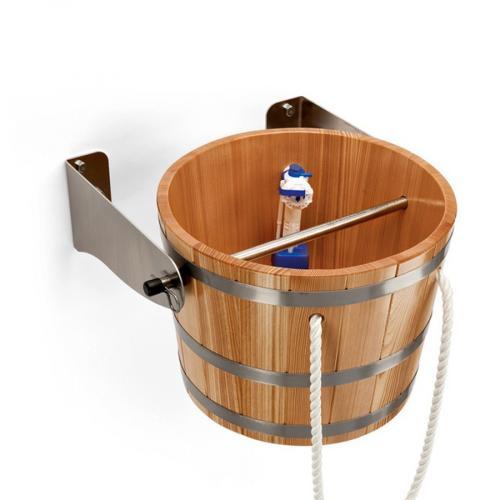 Деревянное обливное устройство (ведро) 29 л., Blumenberg  лиственница, для сауны, бани.