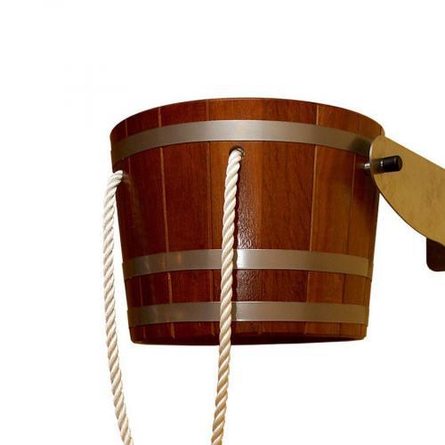 Деревянное обливное устройство (ведро) 29 л., Blumenberg  Камбала, для сауны, бани.