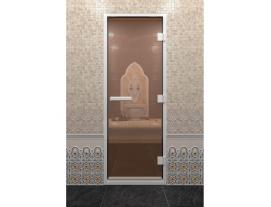 Дверь хамам бронза прозрачное