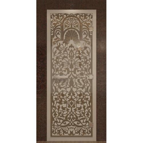 """Дверь для турецкой бани, хамам - Doorwood с рисунком  """"Флоренция"""""""