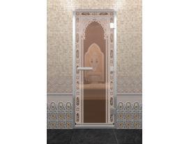 Дверь хамам с рисунком  Восточная арка