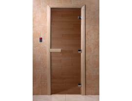 Дверь бронза прозрачное