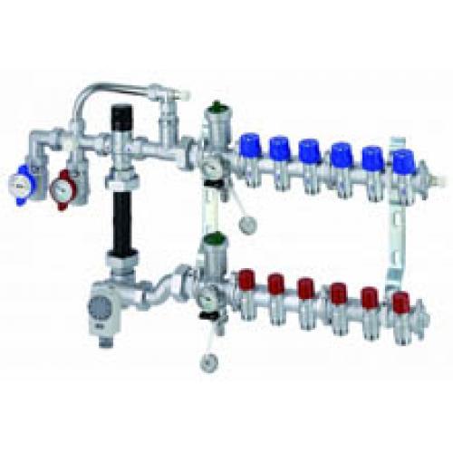 Универсальный узел обогрева на 5 контуров, для водяного отопления в турецкой бани, хамаме