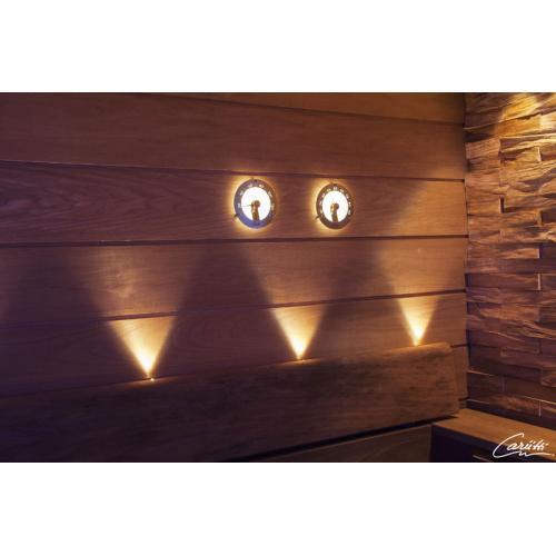 Светильник для сауны и бани - гигрометр с  подсветкой Cariitti