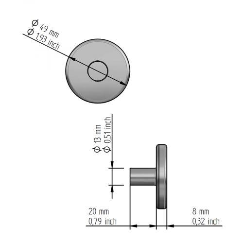 Защищенный температурный датчик Hygromatik TF 105.